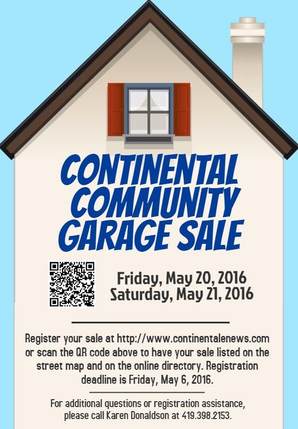 2016 Garage Sale Flyer