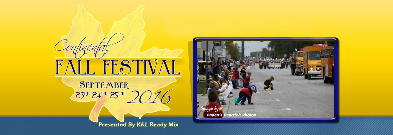 Continental Fall Fest Sept 23, 24 and 25 - Continental eNews