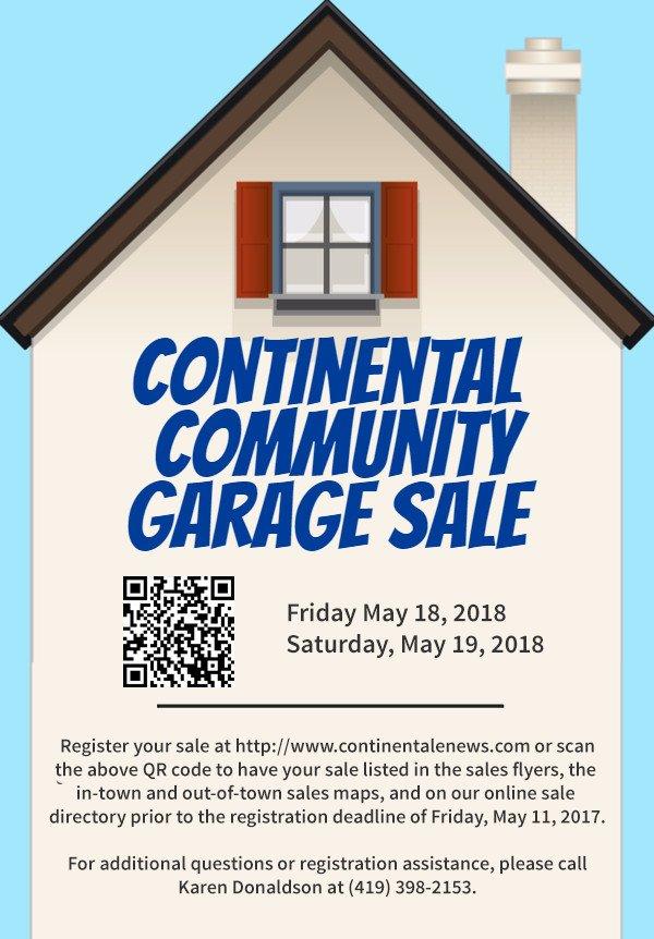 garage sale registration form